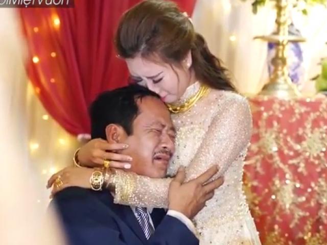 Bố khóc nghẹn khi con gái đi lấy chồng lấy nước mắt dân mạng