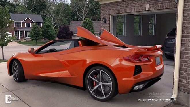 Hình ảnh 3D của Chevrolet Corvette mui trần thế hệ mới, mạnh mẽ như rồng lửa - 2