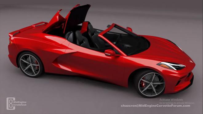 Hình ảnh 3D của Chevrolet Corvette mui trần thế hệ mới, mạnh mẽ như rồng lửa - 3