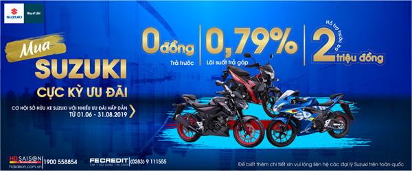Ưu đãi lớn từ Suzuki: Trả góp 0 đồng và hỗ trợ phí trước bạ 2 triệu đồng - 1