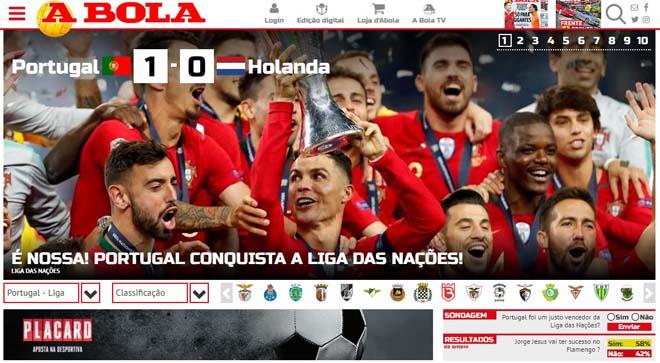 BĐN vô địch Nations League: Báo chí thế giới nể phục vua châu Âu Ronaldo - 1