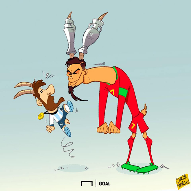"""Ronaldo """"vênh váo"""" với Messi sau khi vô địch UEFA Nations League - 1"""