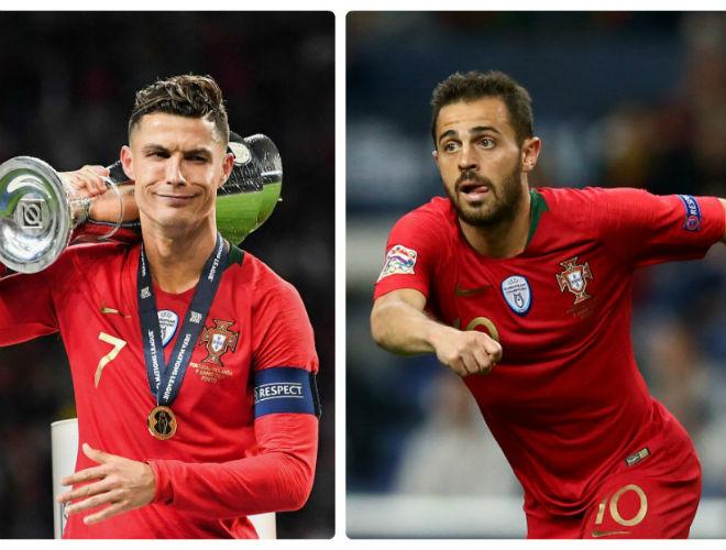 """Clip triệu view: Ronaldo """"lườm"""" đàn em vì mất giải hay nhất Nations League - 1"""