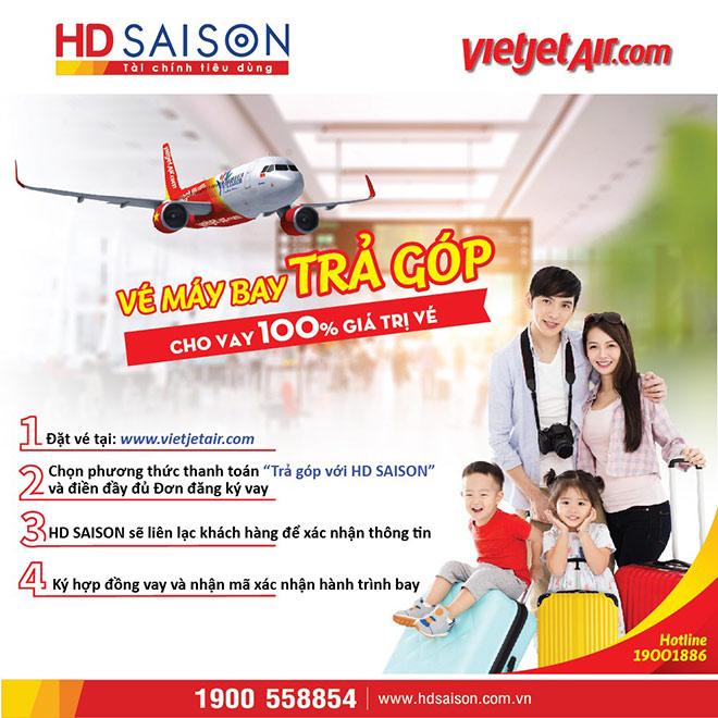"""Mua vé máy bay trả góp trong """"ngày không tiền mặt"""", nhận ưu đãi lớn từ HD SAISON - 1"""