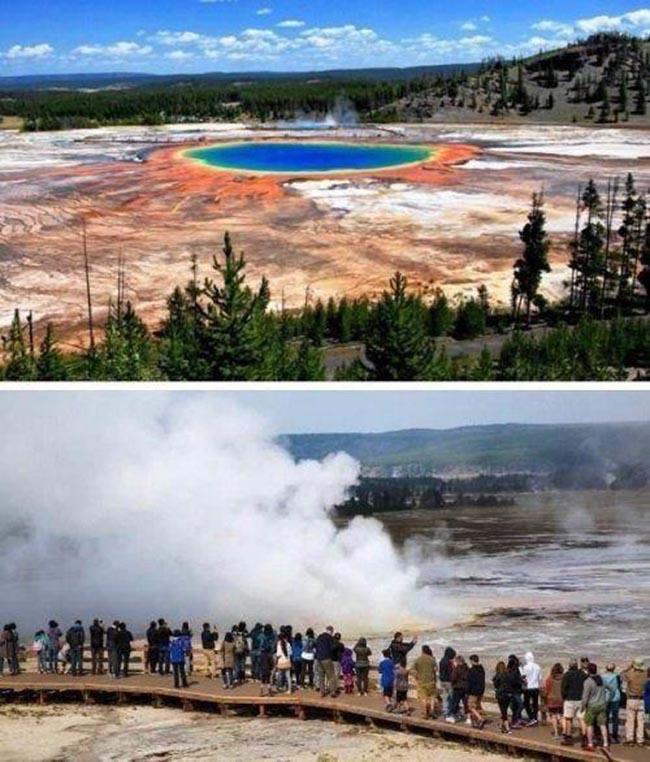 1.Công viên quốc gia Yellowstone, Hoa Kỳ