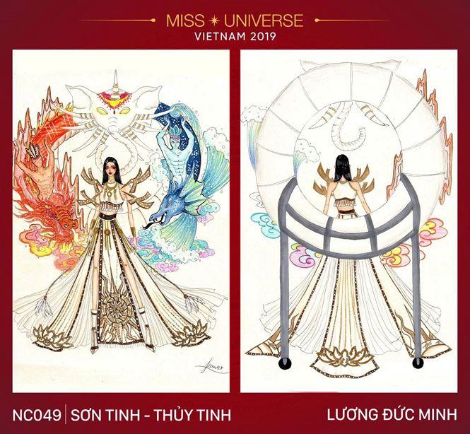 Những mẫu trang phục dân tộc đẹp mắt nhất cho Hoàng Thuỳ ở Miss Universe - 1