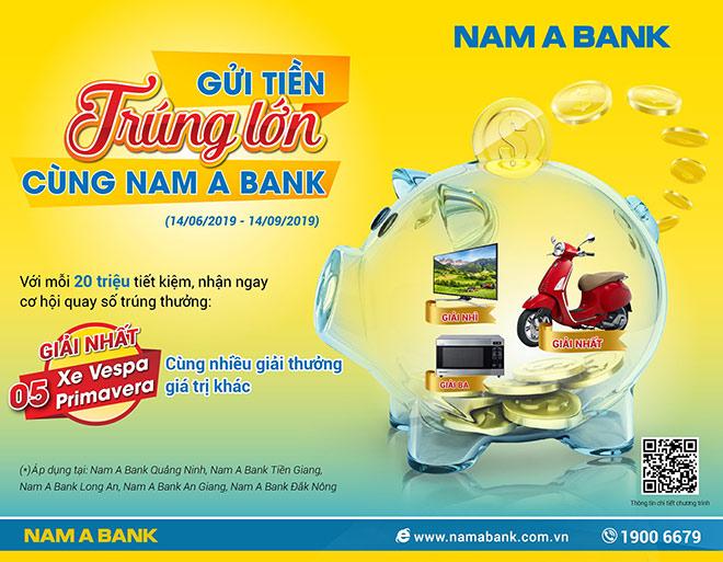 Gửi tiền Nam A Bank, trúng xe Vespa sành điệu - 1