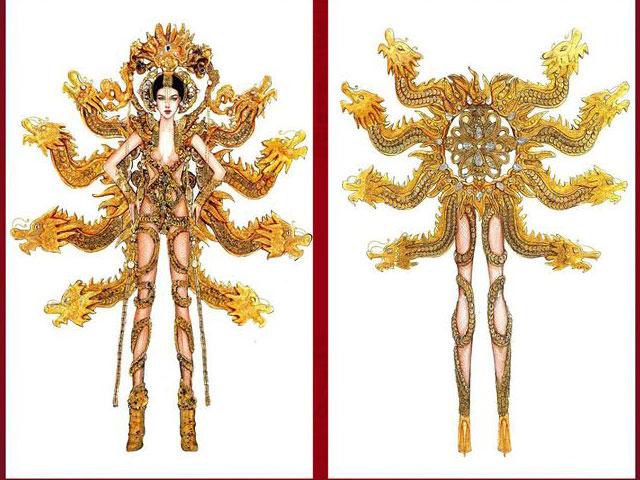Những mẫu trang phục dân tộc đẹp mắt nhất cho Hoàng Thuỳ ở Miss Universe