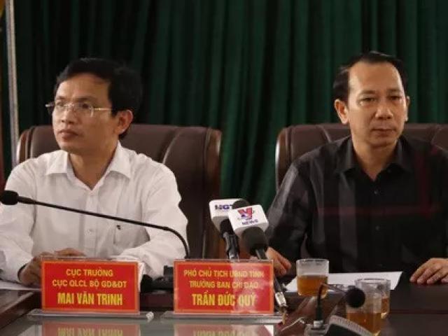 """Vụ gian lận thi cử ở Hà Giang: Kỷ luật """"cảnh cáo"""" Phó chủ tịch tỉnh và Cựu Giám đốc Sở GD-ĐT"""