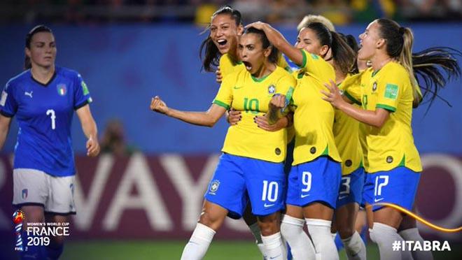 """Italy - Brazil: Vỡ òa 11m, """"Ronaldinho nữ"""" giật vé vàng (World Cup nữ) - 1"""