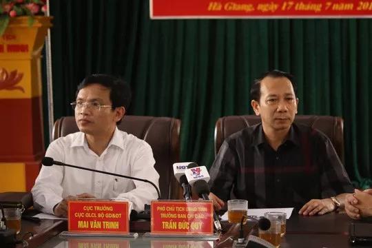"""Vụ gian lận thi cử ở Hà Giang: Kỷ luật """"cảnh cáo"""" Phó chủ tịch tỉnh và Cựu Giám đốc Sở GD-ĐT - 1"""