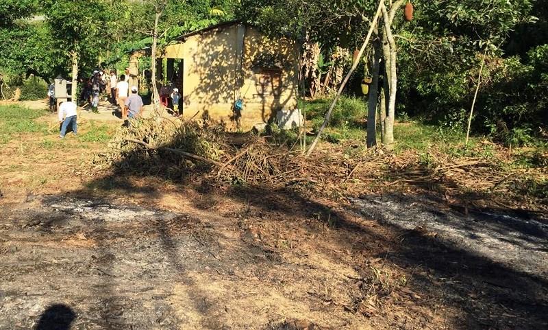 Xót xa dập đám cháy rẫy phát hiện thi thể cụ ông 88 tuổi - 1
