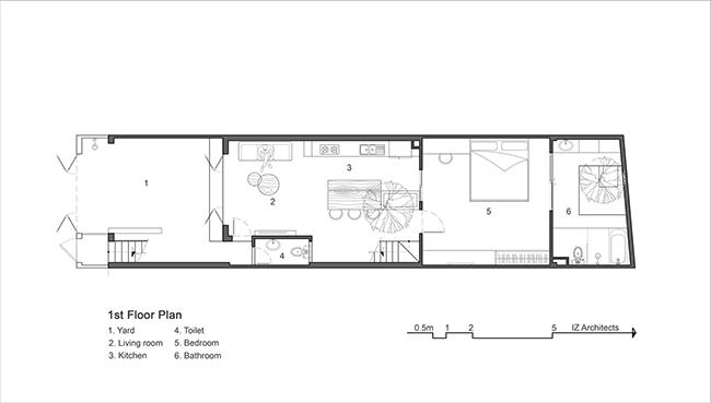 Bản vẽ sơ đồ bố trí mặt sàn tầng 1
