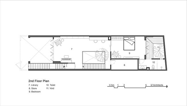 Bản vẽ sơ đồ bố trí mặt sàn tầng 2