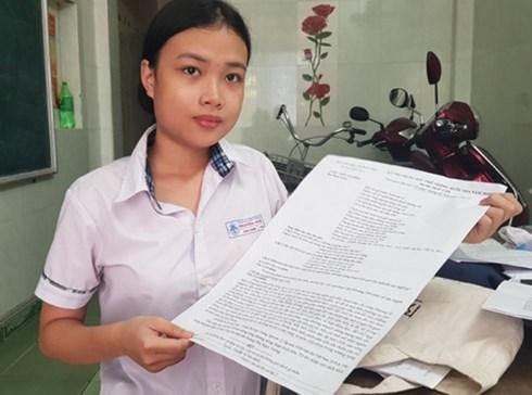Thi THPT Quốc gia 2019: Thí sinh đặc biệt ở Huế dự thi với đề được in... trên giấy A3 - 1