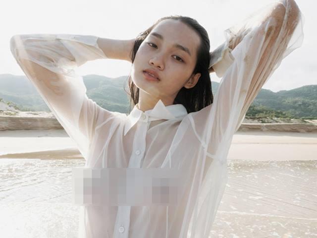 Học trò 20 tuổi của Võ Hoàng Yến táo bạo với áo sũng nước trong ảnh thời trang