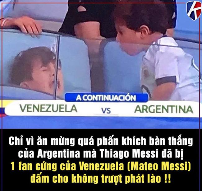 """Cậu con trai """"cá tính"""" của Messi luôn bắt nạt anh nó."""