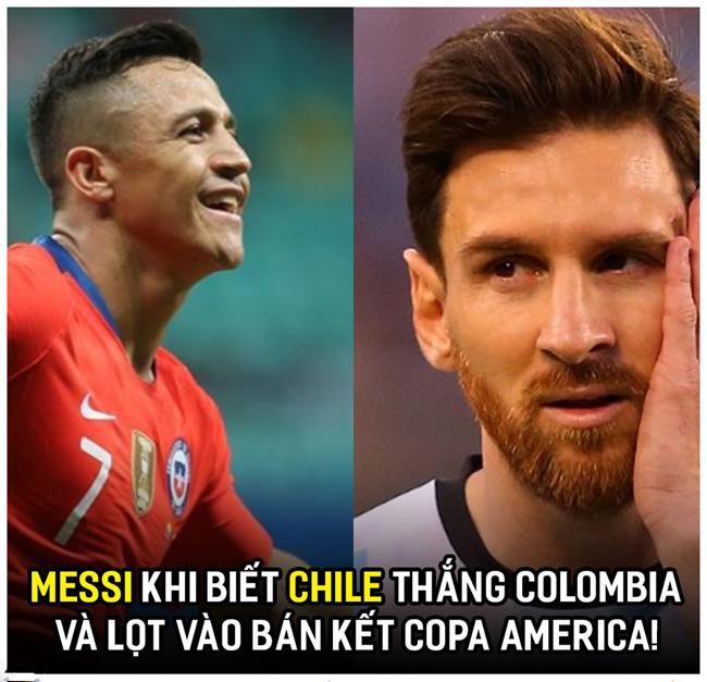 Cảm xúc của Messi khi nghe tin Chile vào bán kết.