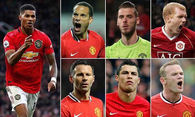 Rashford chọn siêu đội hình MU: Ronaldo - Rooney tái hợp - 1