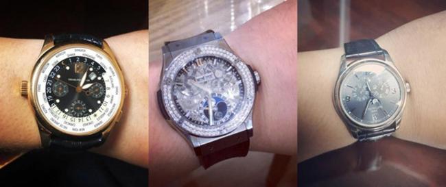 Bộ sưu tập đồng hồ của Xemesis có giá trị lên đến hàng tỷ đồng.