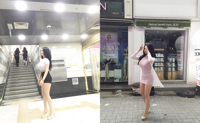 Những bức hình chụp lướt qua ở đường phố, ga tàu của một cô gái Hàn Quốcbỗng chốc trở thành tâm điểm chú ý trên mạng xã hội.
