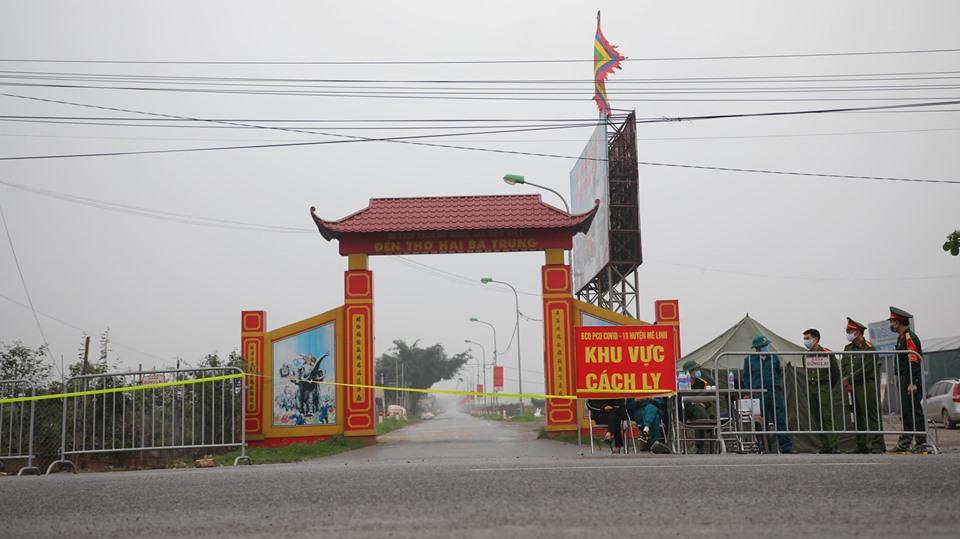 Cận cảnh vùng cách ly gần 11.000 nhân khẩu ở thôn Hạ Lôi, nơi bệnh nhân 243 sinh sống - 1