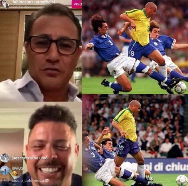 """Ronaldo """"béo"""" hội ngộ Cannavaro: Gợi nhớ màn """"1 chọi 2"""" kinh điển - 1"""