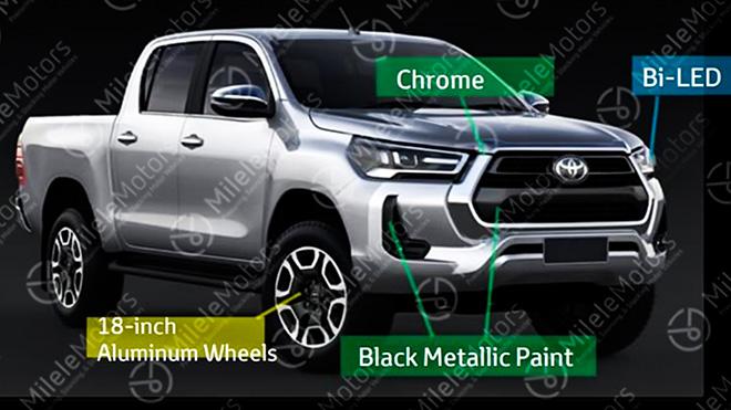 Xe bán tải Toyota Hilux phiên bản nâng cấp sắp được ra mắt - 1