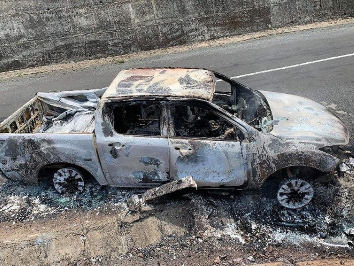 Vụ thi thể trong ô tô cháy trơ khung: Xe của bí thư xã - 1