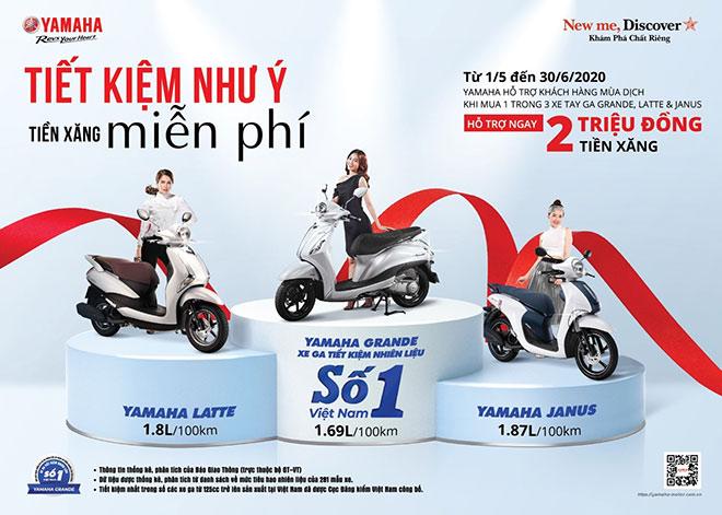"""Yamaha tung ưu đãi """"khủng"""" nhân dịp Grande trở thành xe tay ga tiết kiệm xăng số 1 Việt Nam - 1"""