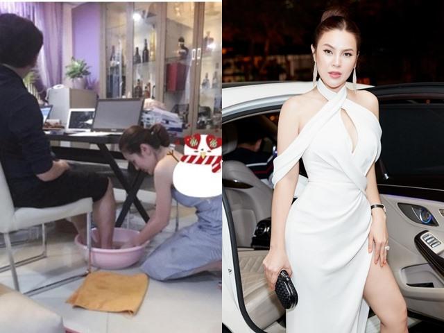 Hoa hậu quỳ gối rửa chân cho chồng đại gia, đi xe 8 tỷ, giàu có khủng khiếp giờ ra sao?
