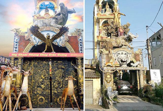 Ngôi nhà độc - dị - lạ chỉ có ở Hưng Yên, trưng bày hàng trăm đồ phong thủy ngoài mặt đường - 1
