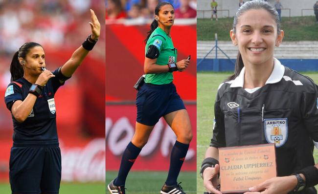 Claudia Umpiérrez là trọng tài người Uruguay và nổi tiếng với nghị lực để tới với bộ môn túc cầu giáo. Trước đó, cô là một luật sư và chỉ bắt đầu sự nghiệp cầm còi quốc tế vào năm 2010. Năm 2016, cô trở thành trọng tài nữ đầu tiên cầm còi tại giải VĐQG Uruguay.