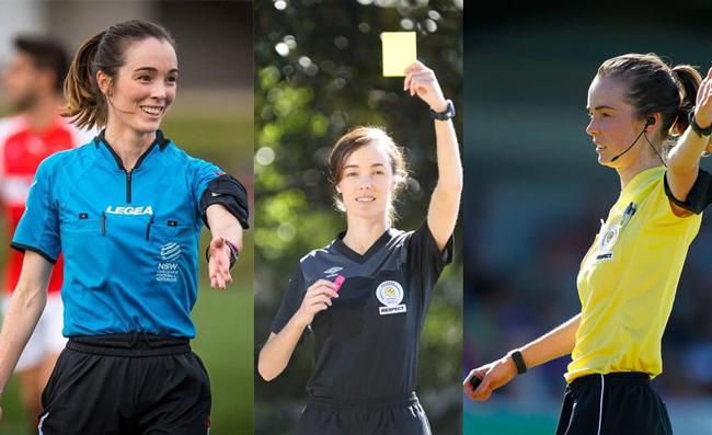 Katie-Louise Patterson là trọng tài người Úc và cô mới chỉ 25 tuổi. Cô được đánh giá rất cao trong chuyên môn và sở hữu một khuôn mặt khả ái.