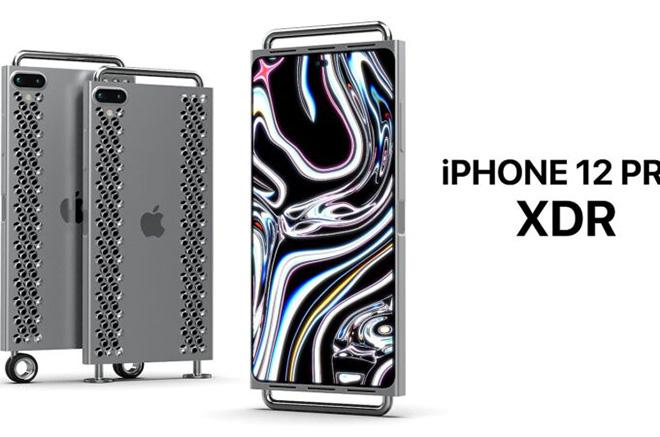 Ý tưởng iPhone 12 XDR Pro với bánh xe siêu lạ - 1