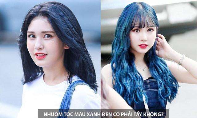 Những màu tóc xanh đen đẹp cá tính nhất phù hợp với mọi làn da - 1