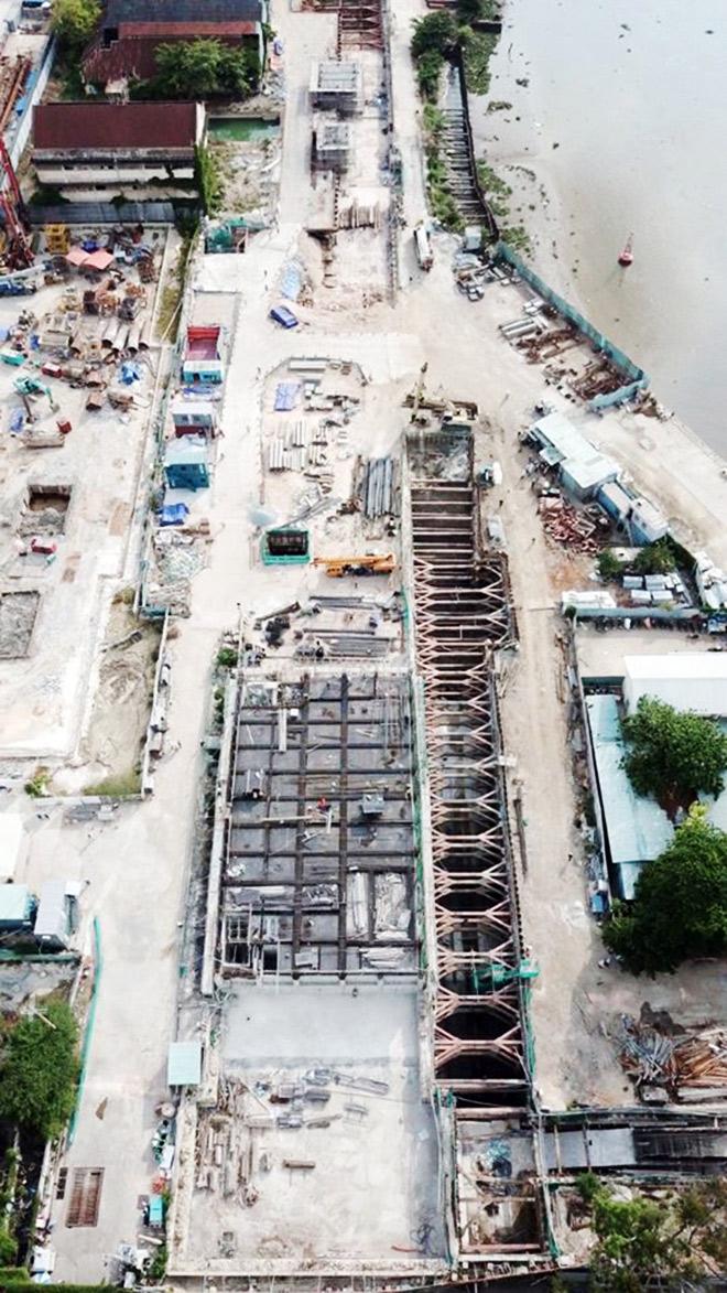 Cận cảnh ga ngầm dưới lòng đất của tuyến metro ở Sài Gòn đang dần thành hình - 1