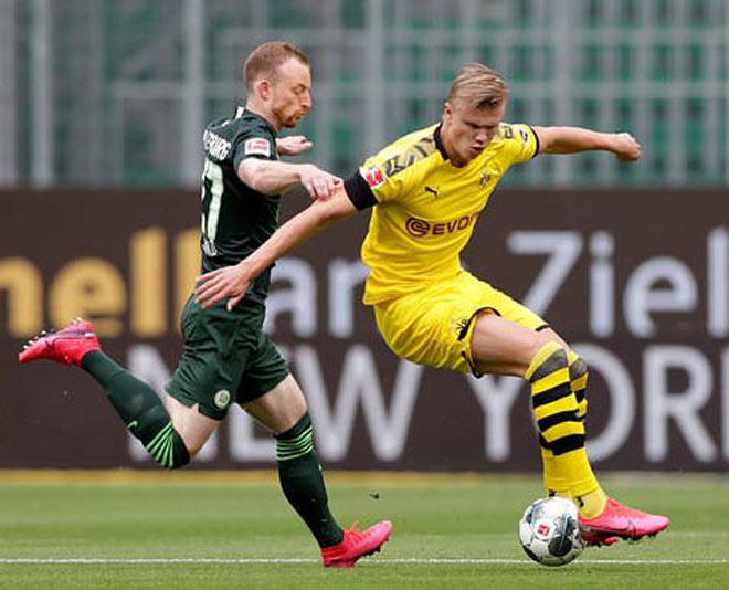 Video highlight trận Wolfsburg - Dortmund: Tấn công vũ bão, Sancho ghi dấu - 1