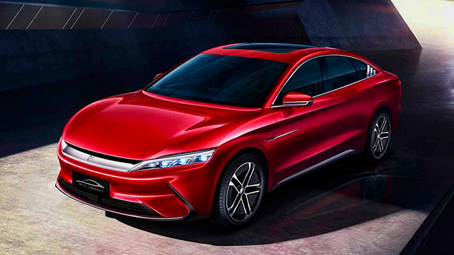 Hãng xe BYD ra mắt xe điện Han EV, kỳ vọng cạnh tranh với Tesla Model 3 - 1