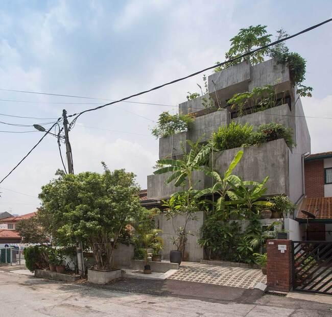 Được thiết kế cho một cặp vợ chồng đã nghỉ hưu, đam mê trồng thực phẩm, ngôi nhà đã định nghĩa lại không gian sống đương đại khu vực nhiệt đới.
