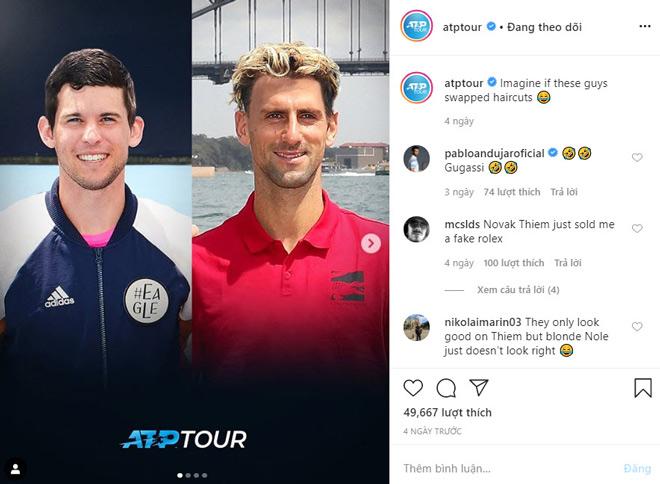 Djokovic và Dominic Thiem bị biến hình bất thình lình, fan ngỡ ngàng - 1