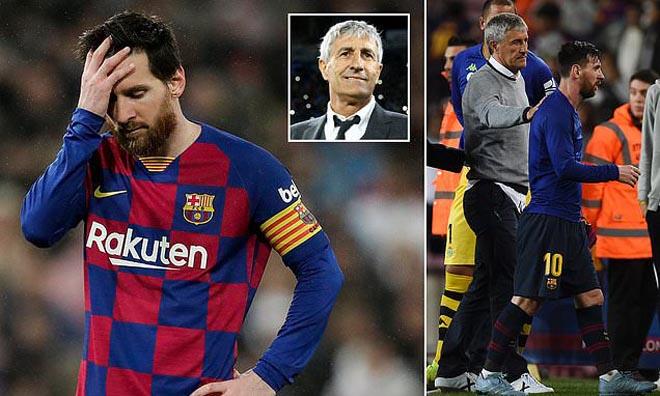 """Barca cực nóng: HLV Setien không ngán """"ông trùm"""" Messi, mơ đoạt cúp C1 - 1"""