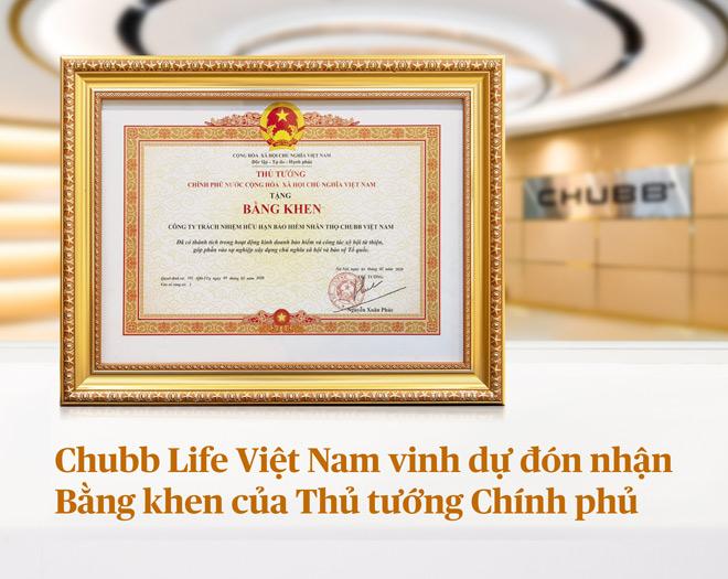 Chubb Life Việt Nam vinh dự đón nhận bằng khen của Thủ tướng Chính phủ - 1
