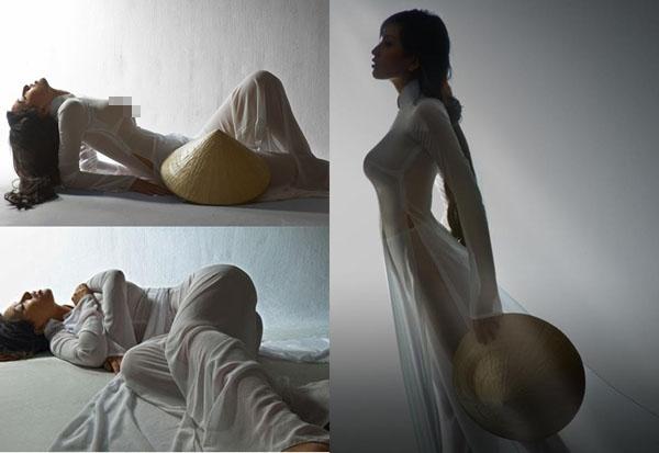 Khánh My diện áo dài đẹp mỹ miều nhưng bị chê vì tư thế - 3