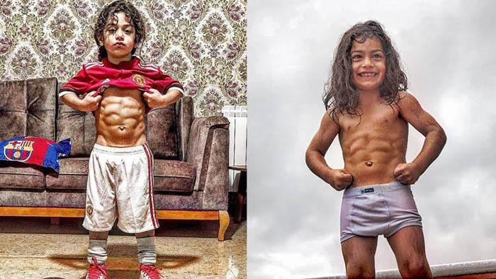 Choáng với cậu bé 6 tuổi nhưng đã có cơ bụng 6 múi, được Messi khen ngợi - 1