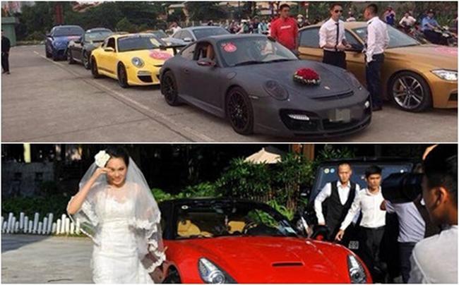 Thời điểm tổ chức hôn lễ cách đây 7 năm, cô dâu siêu mẫu được chú rểđón đến điểm tổ chức lễ cưới bằng chính chiếc xe Ferrari California màu đỏ, có giá 12 tỷ đồng. Ngoài chiếc Ferrari 12 tỷ đi đầu, những mẫu xế hộp khác xuất hiện tại sân Cung Văn hóa Hữu nghị Việt - Xô trong ngày cưới Ngọc Thạch khiến người hâm mộ xôn xao.