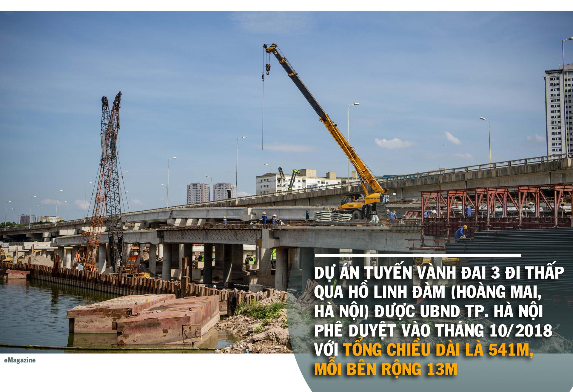 Toàn cảnh cầu hàng trăm tỷ vượt qua hồ nước đẹp bậc nhất Hà Nội - 3
