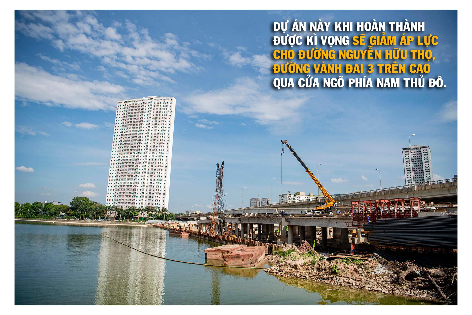 Toàn cảnh cầu hàng trăm tỷ vượt qua hồ nước đẹp bậc nhất Hà Nội - 15