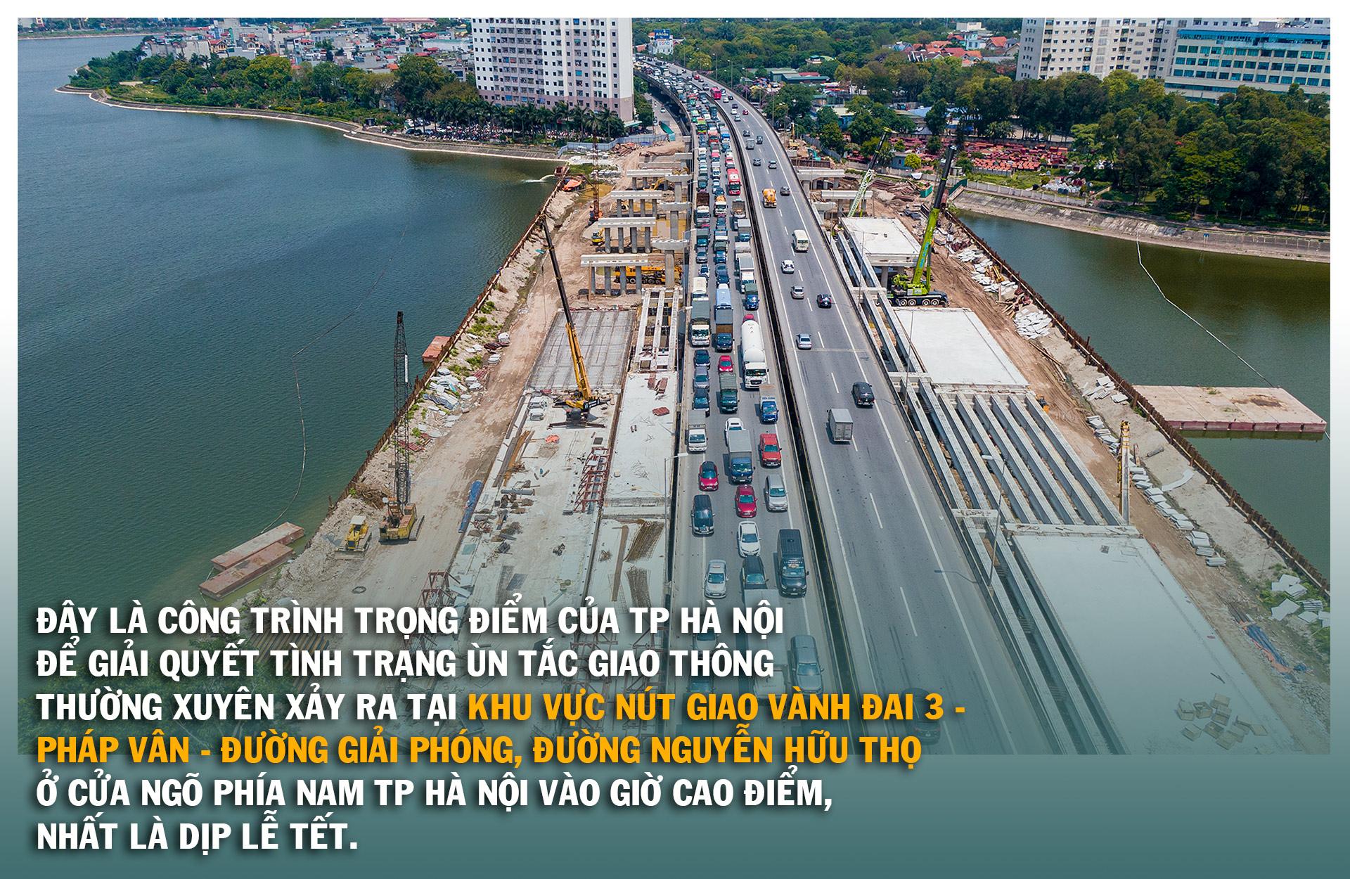 Toàn cảnh cầu hàng trăm tỷ vượt qua hồ nước đẹp bậc nhất Hà Nội - 5