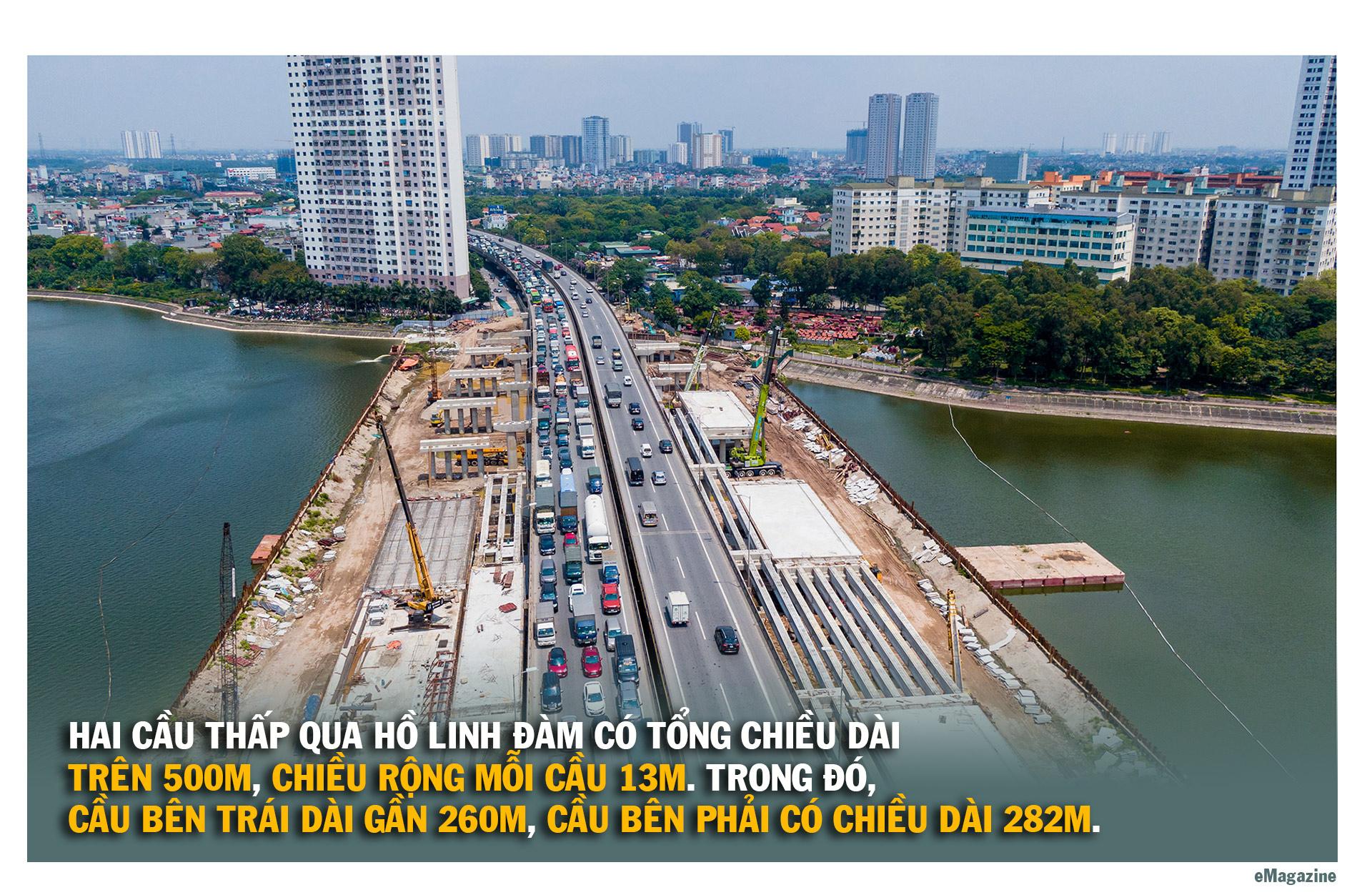 Toàn cảnh cầu hàng trăm tỷ vượt qua hồ nước đẹp bậc nhất Hà Nội - 6